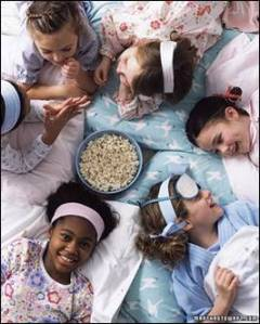 little girls sleep over